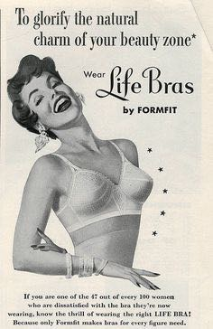 1950's Formfit advert for bras